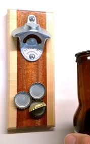 magnetic bottle opener and cap catcher. Unique Bottle Wall Mounted Bottle Opener In Mahogany And Maple With Magnetic Cap  Catcher  By Smile Moon And Flickr