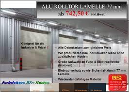 Online Shop Kaufen Rolltor Alu Vorbaurollladen Garagentor Komplett