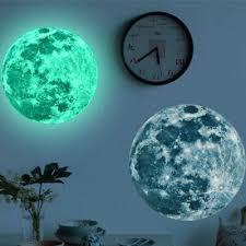 3d luminous moon wall sticker glow in