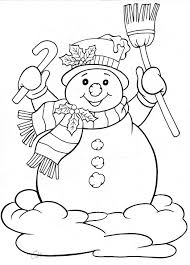 Small Picture snowman for winter holiday Drawing template coloring embroidery