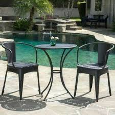 bistro sets patio dining furniture the home depot outdoor bistro chairs black sand 3 piece metal outdoor bistro