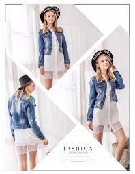 l868008 whole fashion clothing 2017 women denim jacket fall and winter wash short damage jean coats
