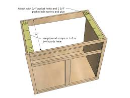 Ana White | Kitchen Cabinet Sink Base 36 Full Overlay Face Frame   DIY  Projects