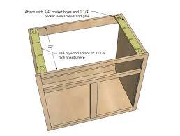 kitchen sink cabinet plans ana white kitchen cabinet sink base 36 full overlay face frame