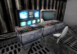 2 prim enhanced computer station with sounds and animated textures