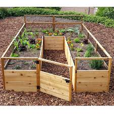 cedar raised beds diy outdoor living today garden bed 8 x