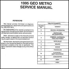geo metro engine wiring wiring diagram technic 1995 geo metro preliminary repair shop manual original1995 geo metro preliminary shop manual original table