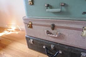 Suitcase Nightstand guest room cupcakes & cashmere 2462 by guidejewelry.us