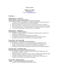 Claims Specialist Sample Resume Claims Adjuster Resume Sample Httpresumesdesign Comclaims No 2