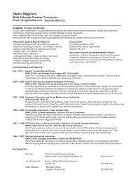 Mechanical Technician Resume Resume For Study