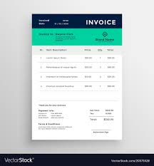invoice template design modern minimal invoice template design royalty free vector