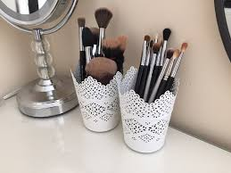 ikea socker plant pot with holder makeup brush