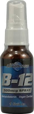 Купить Pure Advantage <b>B</b>-<b>12</b> Spray - <b>500 мкг</b> - 1 флакон: отзывы ...