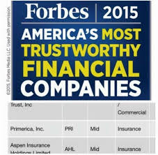 primerica named one of america s 50 most trustworthy financial companies