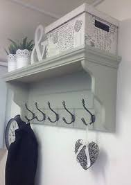 Ball Coat Rack COAT RACK WITH SHELF IN FARROW BALL FRENCH GREY WITH CAST IRON 36