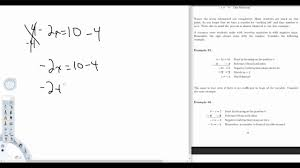 math 436 two step linear equations lecture part 1