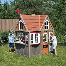 cedar summit cottage outdoor wood playhouse x childrens wooden outside playhouses tiny fun modern child how