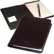 leather doent notepad holder