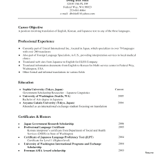 Translator Resume Sample Doc Translation Latex Template Professional