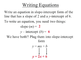 slope intercept form calculator with two points writing equations write an equation in of the line