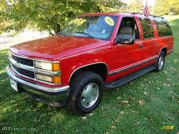 1999 Victory Red Chevrolet Suburban K1500 LT 4x4 #20062302 ...