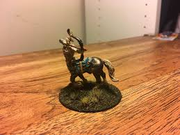 i took a break from painting warhammer figures to paint a centaur
