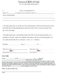 General Bill Of Sale Form Free Bill Of Sale Template Atv Pdf Canada
