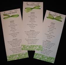 sample wedding ceremony program wedding program