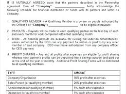 Mou Business Partnership Agreement Template Related Post ...