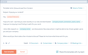 Start Using Email Templates Today Hubspot Sales Software