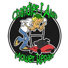 lawn mower logo. chandler lawn mower repair logo