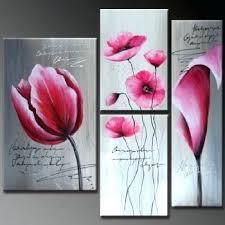 pink flower wall decor pink flowers modern canvas art wall decor fl oil painting wall art
