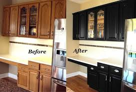 Restain Oak Kitchen Cabinets Simple Cabinet Refinishing Before And After Before And After Pictures Of