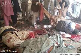 Image result for انفجار انتحاری در مسجد شیعیان پاکستان 28 شهید و 31 زخمی برجای گذاشت