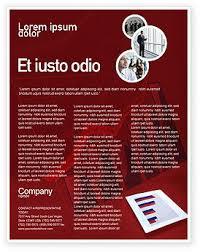 Plantilla De Volante Gratis Histograma Rojo Fondo En Microsoft