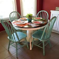 Turquoise And White Kitchen Table Round Table The Gifted Gabber