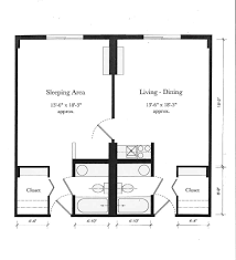 Awesome One Bedroom Efficiency Apartment Plans Contemporary - Loft apartment floor plans
