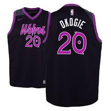 Okogie City Men Purple Jersey Timberwolves Edition Josh