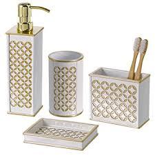 Decorative Accessories For Bathrooms Amazon Diamond Lattice 100Pc Bath Accessory Sets Decorative 18