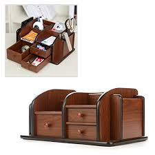 classic office desk. Amazon.com : MyGift Classic Brown Wood Office Supplies Desk Organizer Rack With 3 Drawers, Compartments \u0026 2 Shelves Products