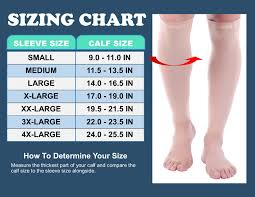 Doc Miller Size Chart Doc Miller Premium Calf Compression Sleeve 1 Pair 20 30mmhg Medical Grade Strong Calf Support Graduated Pressure Sports Running Recovery Shin Splints