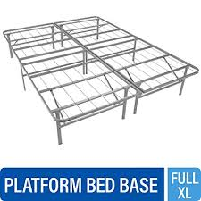 Mantua PB46XL Premium Platform Base in Silver, Fits Full XL Mattress, Replaces Box Spring and Bed Frame, Room for Storage Underneath, No Tools ...
