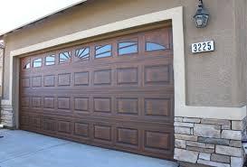 faux wood garage doors. Contemporary Wood Another Example Of A Standard STEEL Raised Panel Door With Window Inserts  Custom U0027woodu0027 Finish Inside Faux Wood Garage Doors O