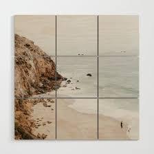 malibu coast california wood wall art