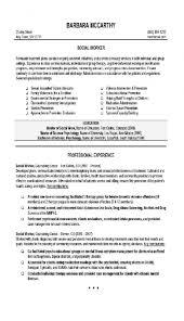 Cute Social Work Resume Template On Social Worker Resume Sample