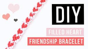 Heart Friendship Bracelet Pattern Magnificent Ideas
