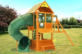 swing set kit wooden sets under metal home depot hardware anchor playground slides sw
