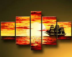 sailing boat modern canvas art wall decor seascape oil painting wall art with stretched on boat canvas wall art with sailing boat modern canvas art wall decor seascape oil painting wall