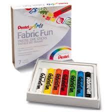 <b>Пастель для ткани</b> Pentel FabricFun Pastels, 7 цветов, 8/60 мм ...