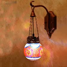 exquisite colorful bohemia art glass wall sconces